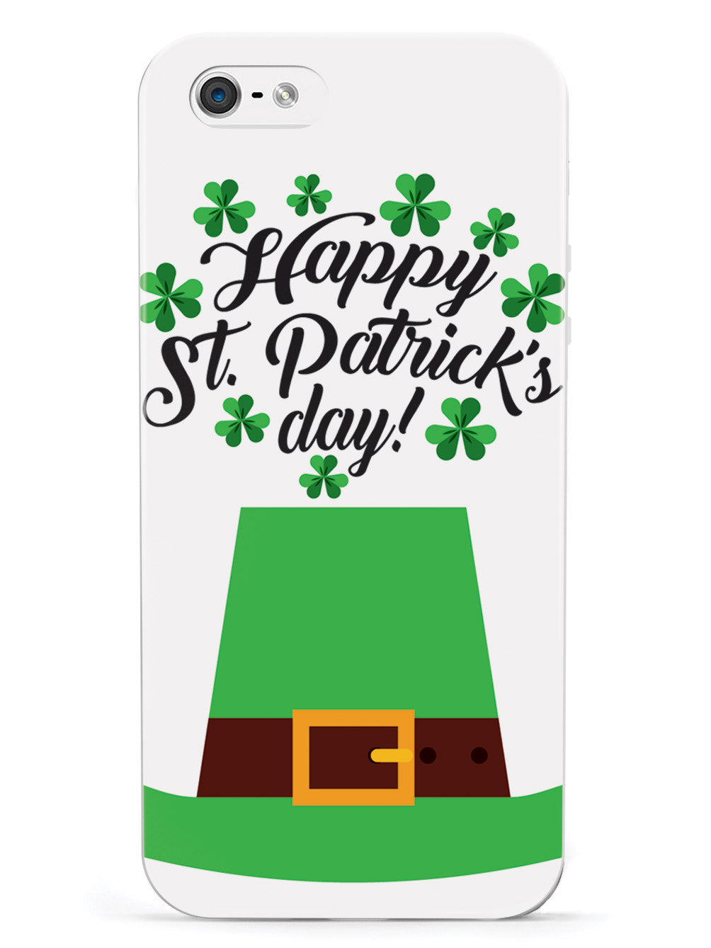 Happy St. Patrick's Day Greeting - White Case