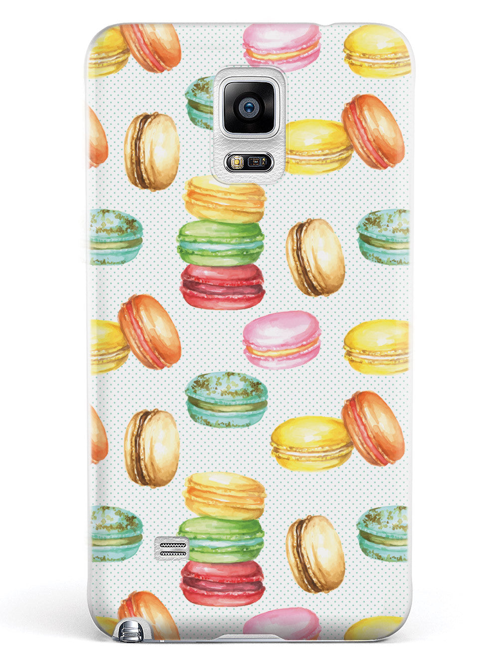Watercolor Macaroons Pattern - White Case