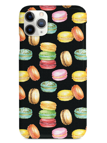 Watercolor Macaroons Pattern - Black Case
