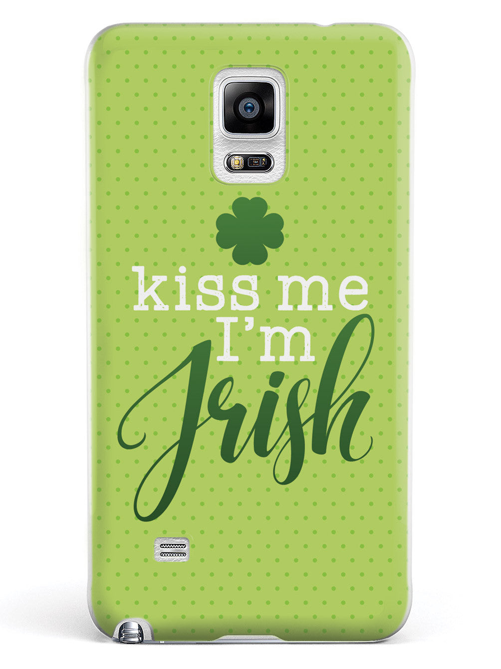 Kiss Me, I'm Irish - Polka Dots Case