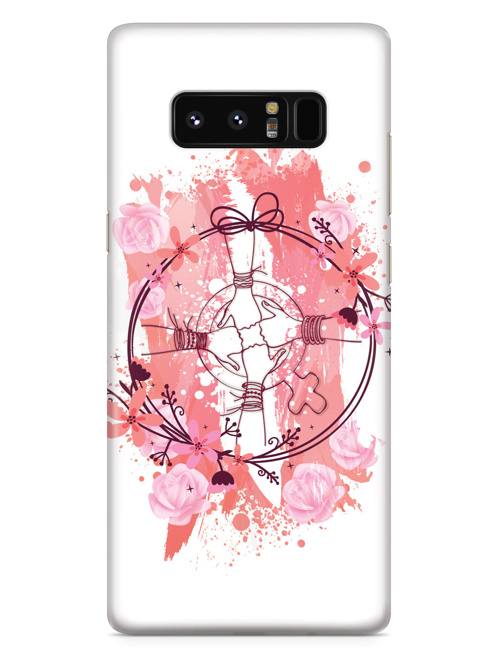 Women United - Thumbs Up Pink Flowers Case