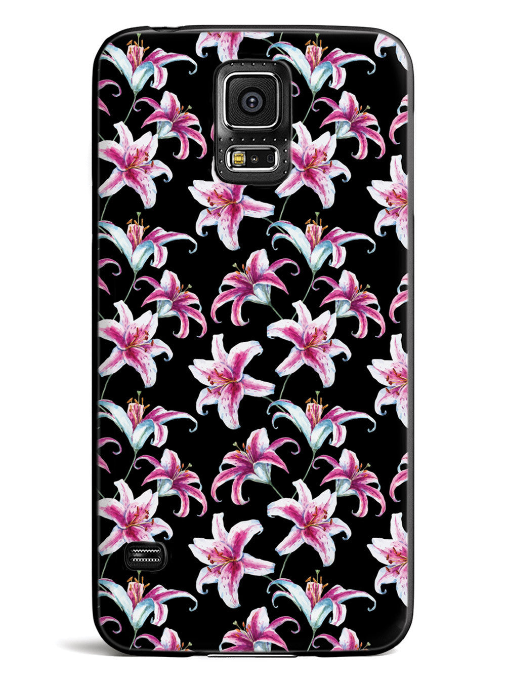 Watercolor Lilies - Black Case