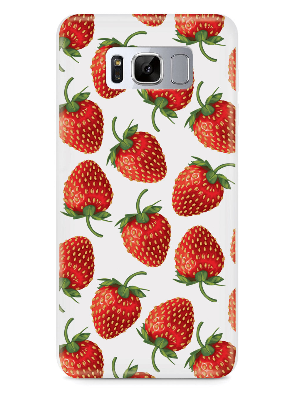 Strawberry Pattern - White Case