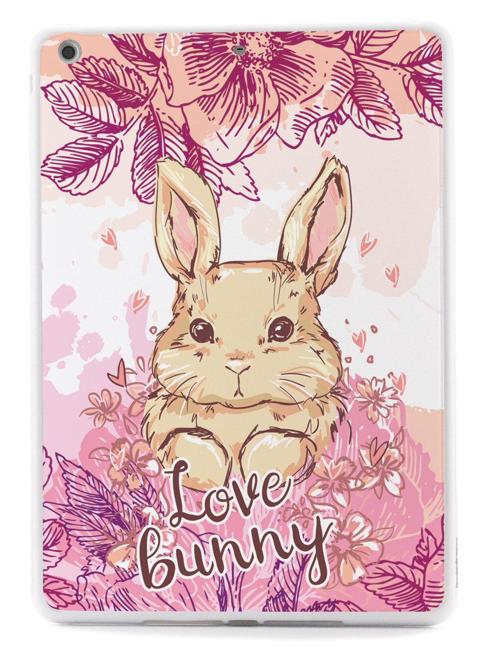 Adorable Floral Love Bunny - White Case