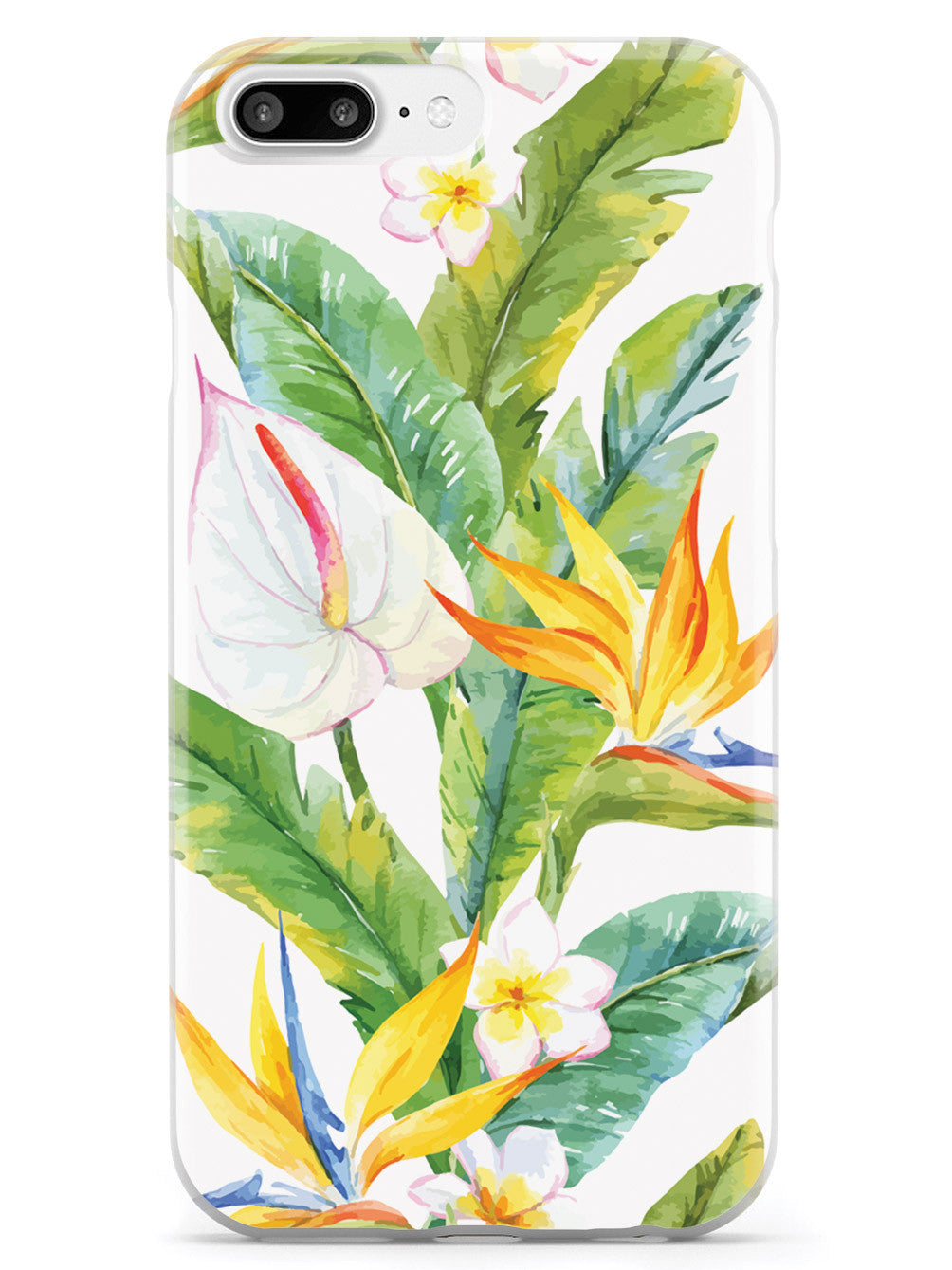 Tropical Watercolor - White Case