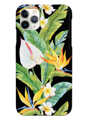 Tropical Watercolor - Black Case