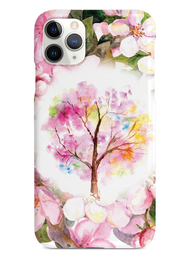 Colorful Spring Watercolor Tree - White Case