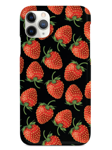 Strawberry Pattern - Black Case