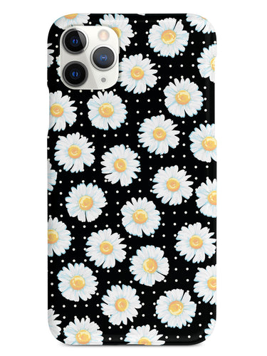 Watercolor Daisy Pattern  - Black Case