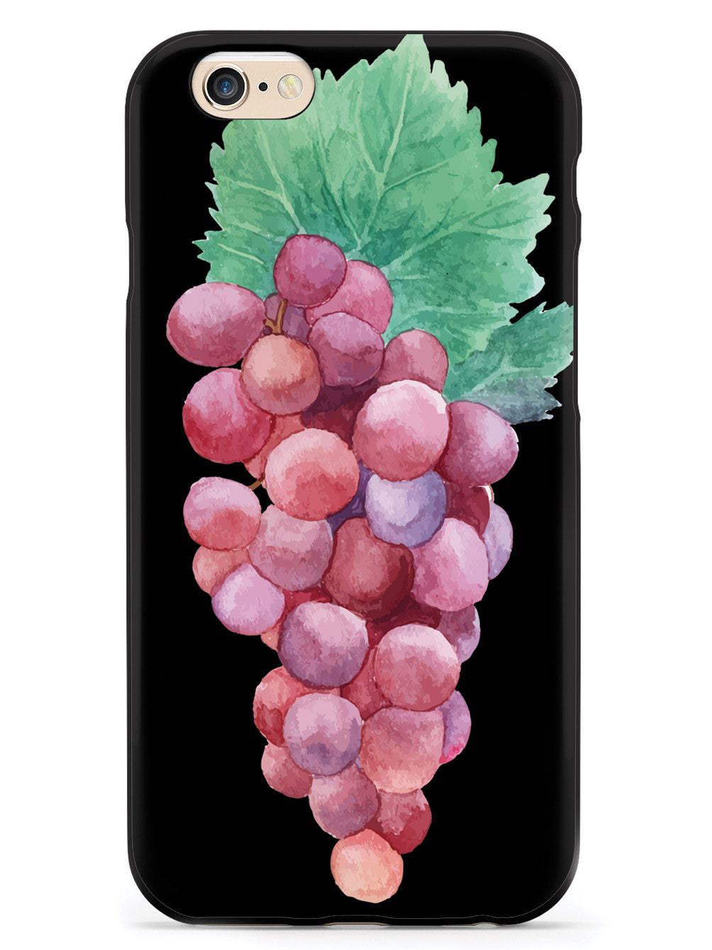 Red Grapes Watecolor - Black Case