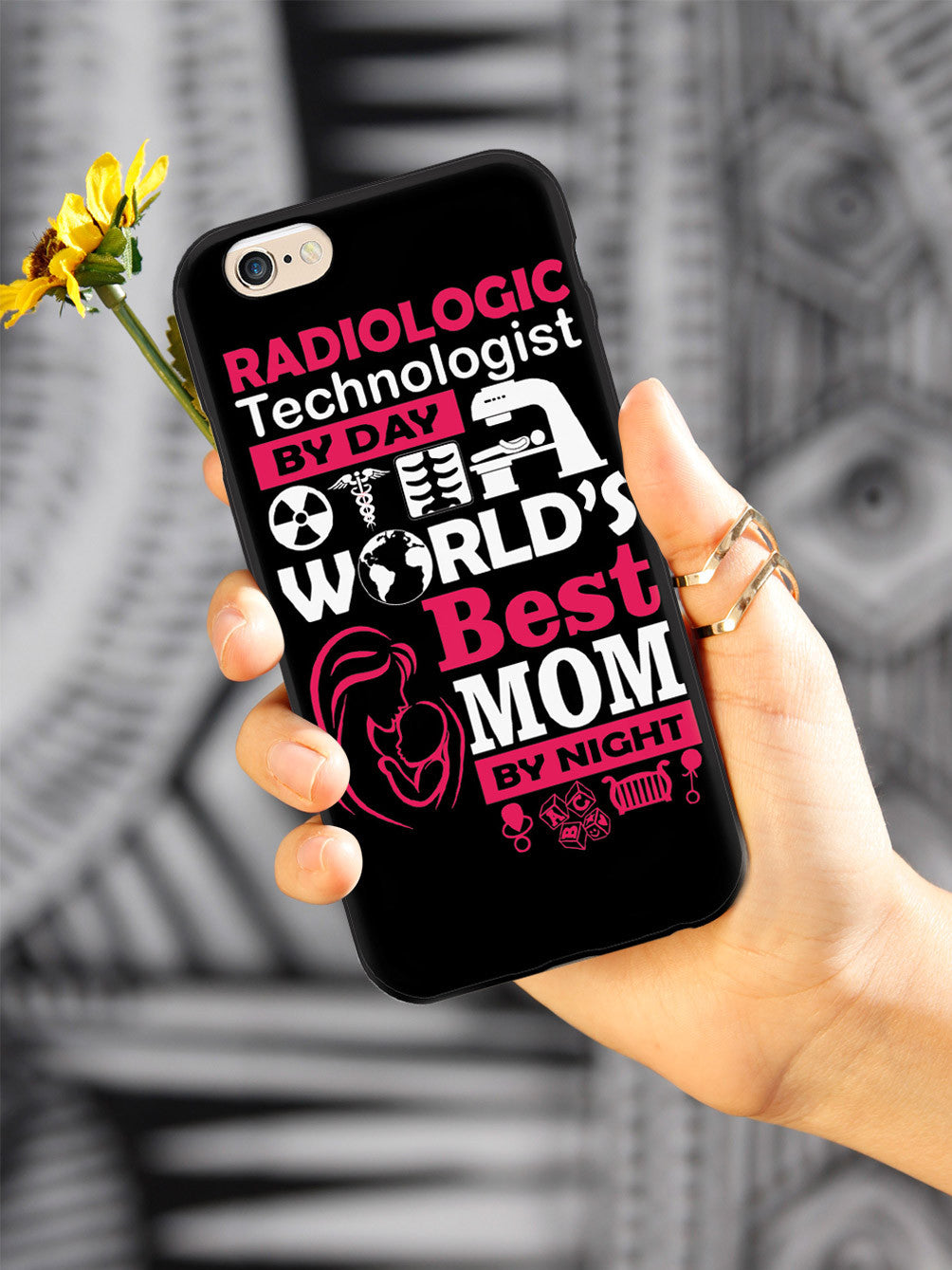 Radiologic Technologist By Day Mom By Night - Black Case