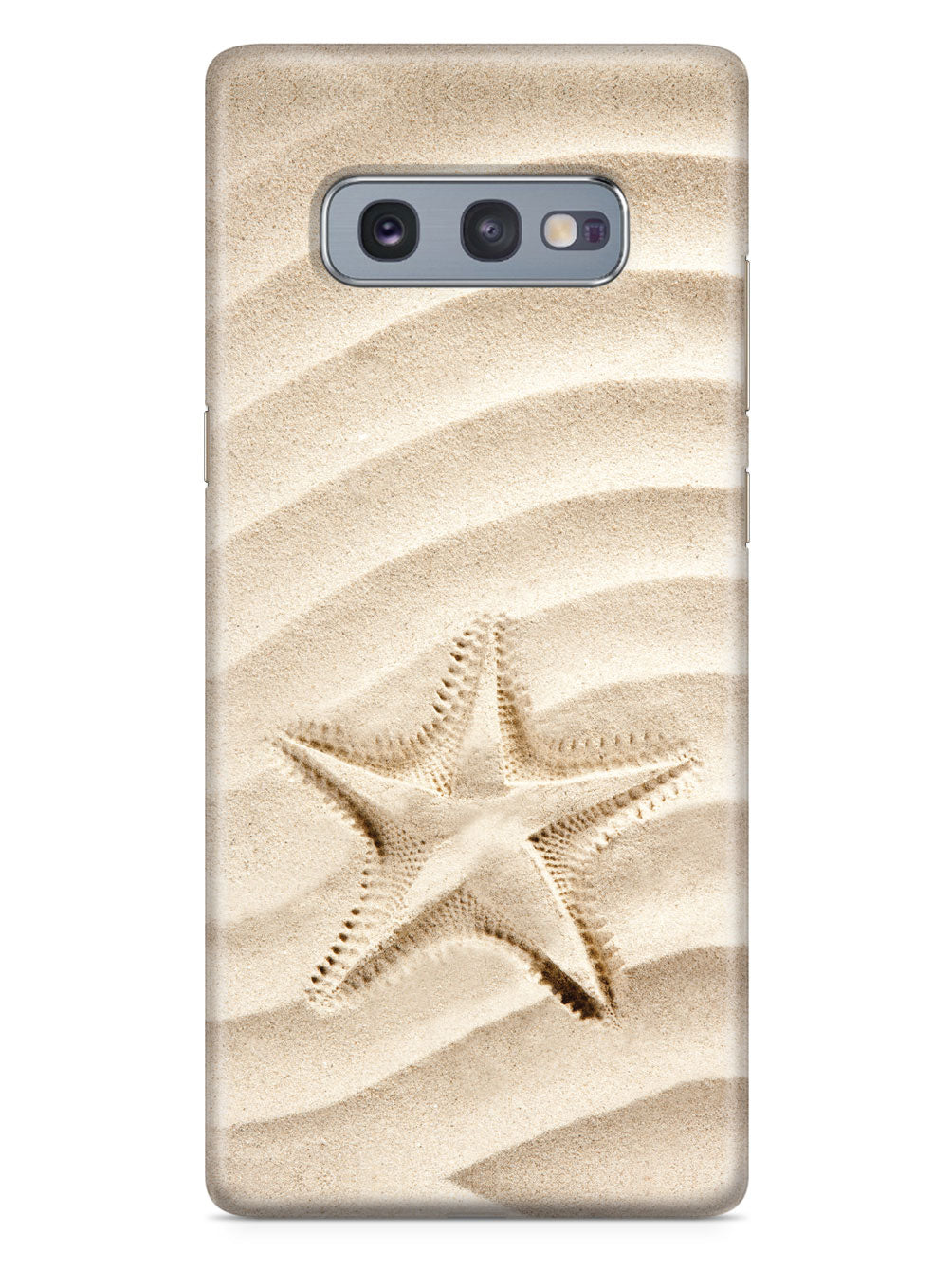 Starfish Footprint - Waves Of Sand - White Case