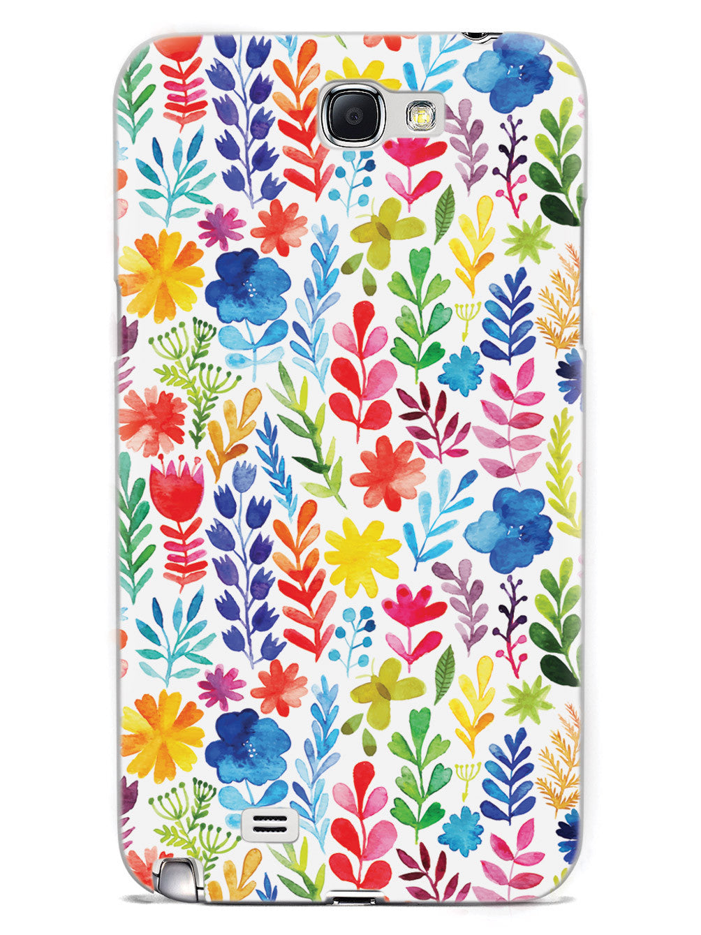 Bright And Colorful Watercolor Flowers - White Case