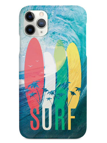 SURF - Tropical Typography - Ocean Wave - White Case
