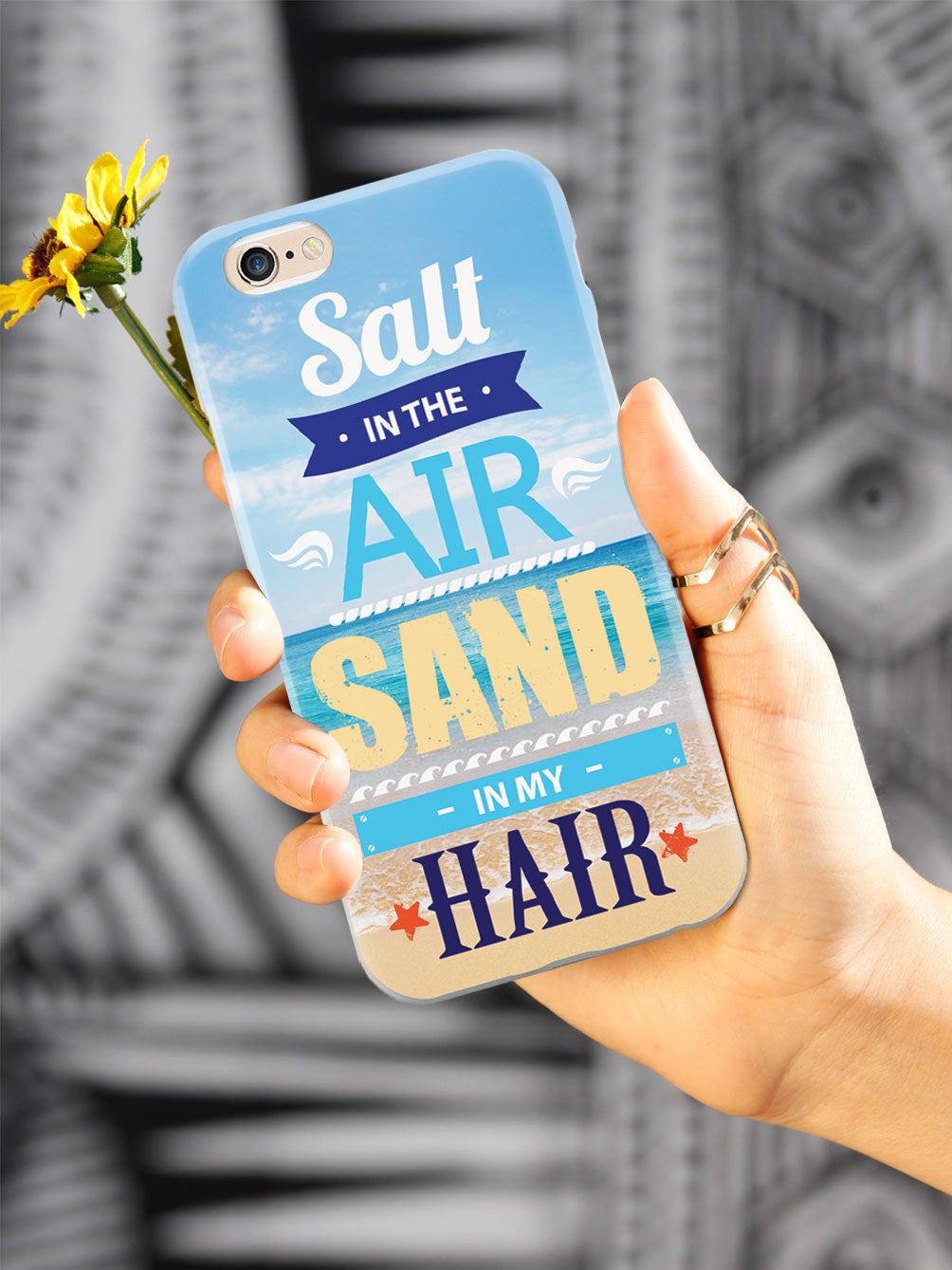 Salt In The Air, Sand In My Hair - White Case