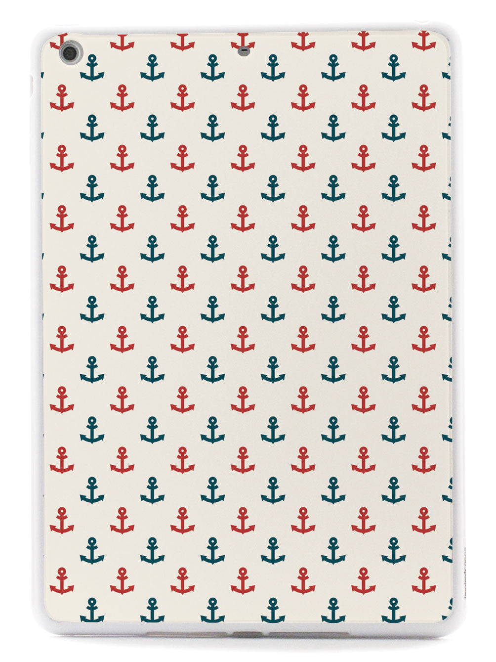 Anchor Pattern - Navy And Red - White Case