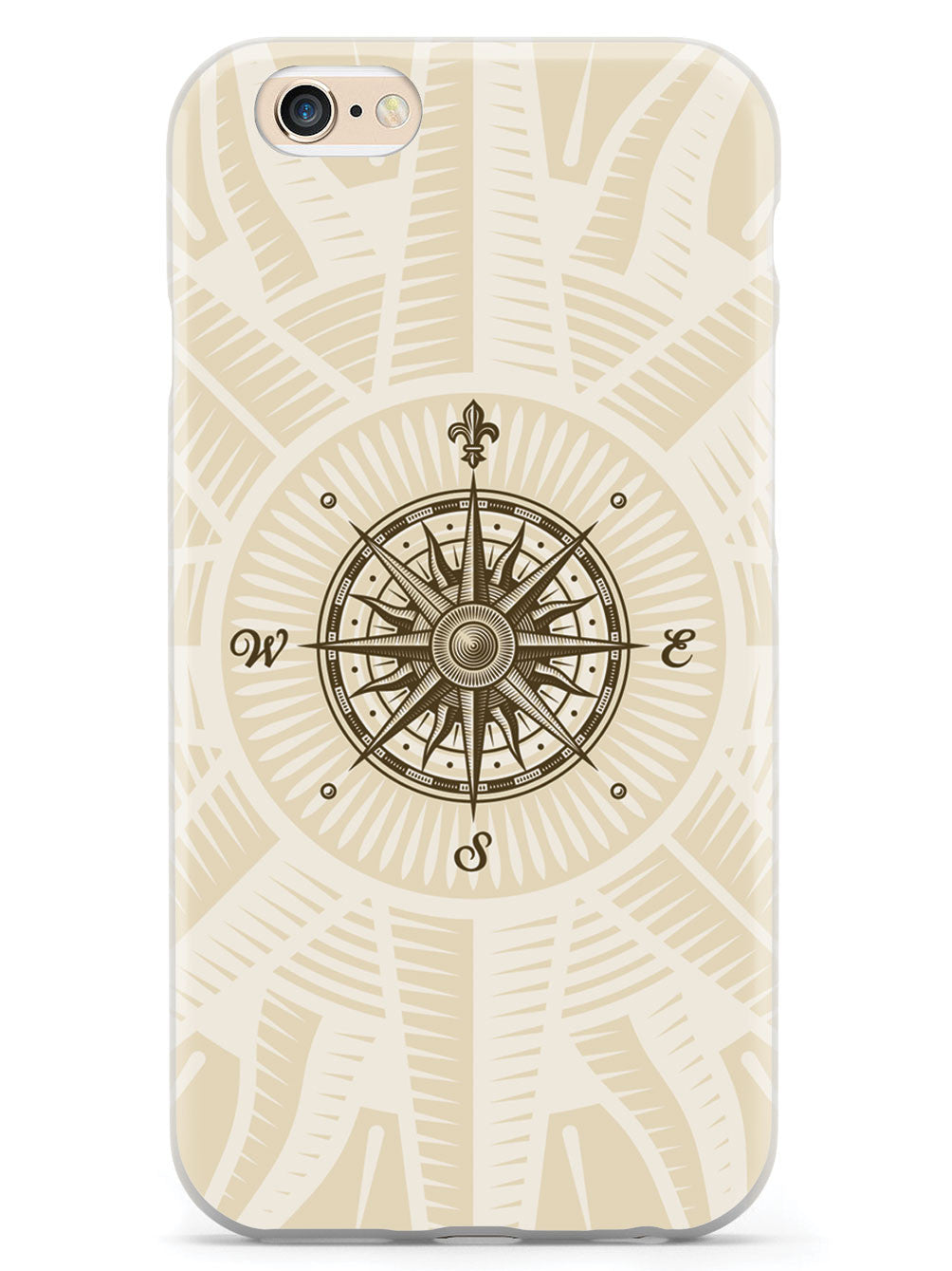 Vintage Compass Rose - White Case