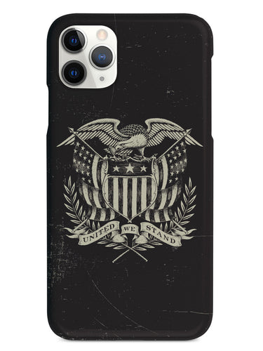 Grayscale American Crest - United We Stand - Black Case