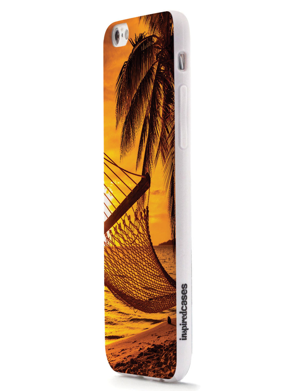 Hammock And Palm Trees - Beach Sunset - White Case
