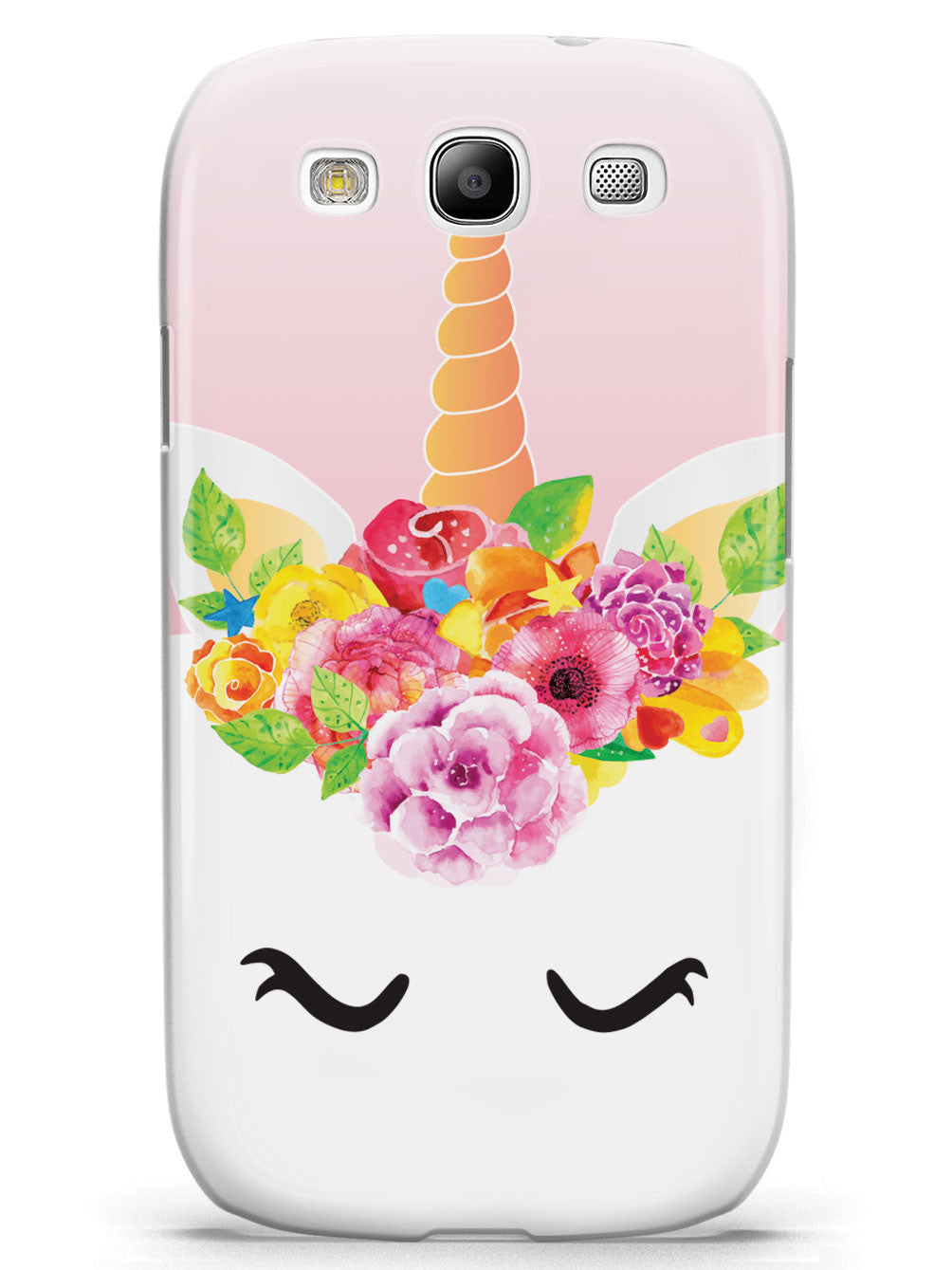 Floral Unicorn Cake Face - White Case