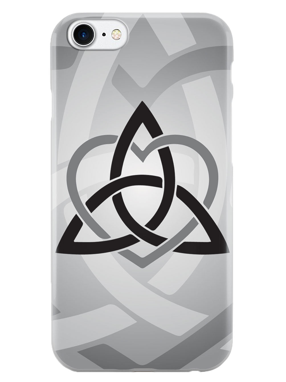 Celtic Sisters Knot - Gray - White Case