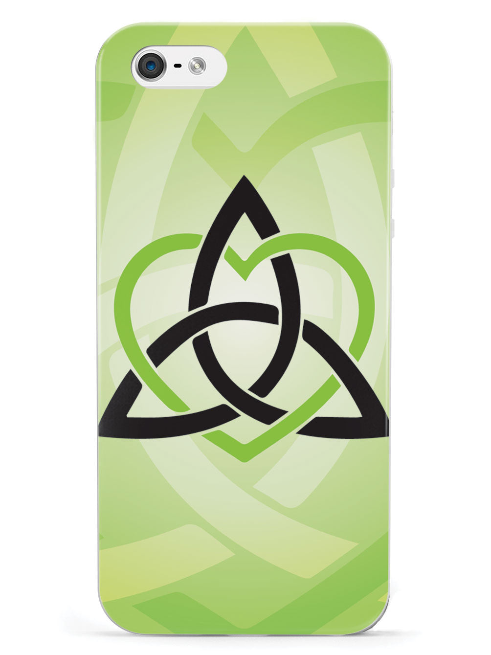 Celtic Sisters Knot - Green - White Case