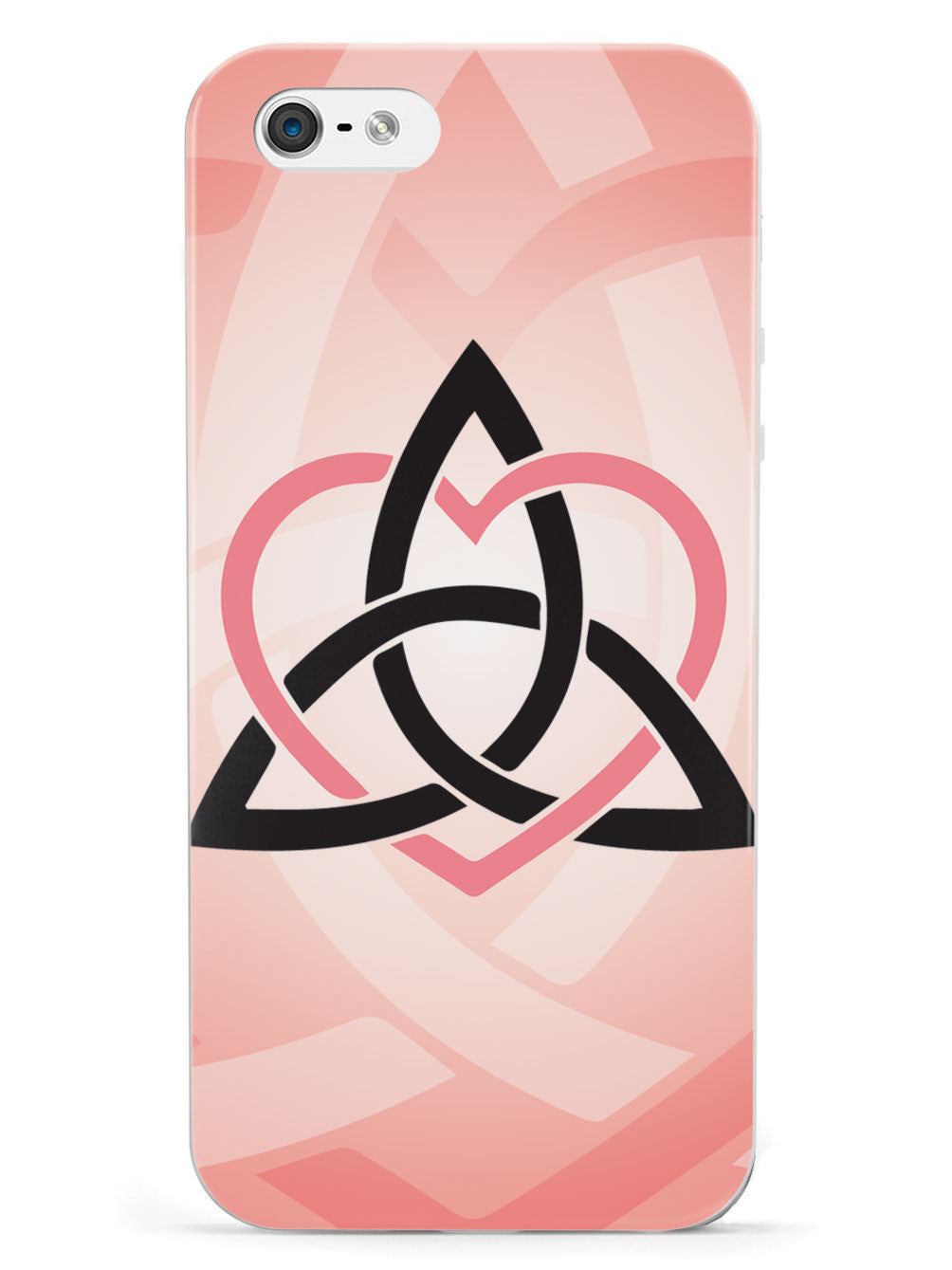 Celtic Sisters Knot - Coral - White Case