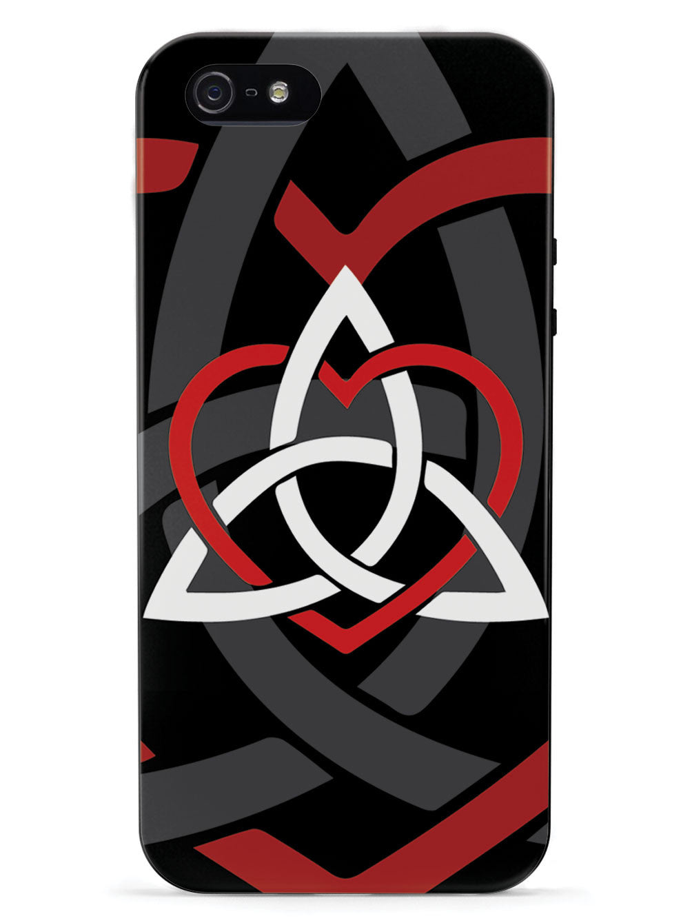 Celtic Sisters Knot - Red - Black Case