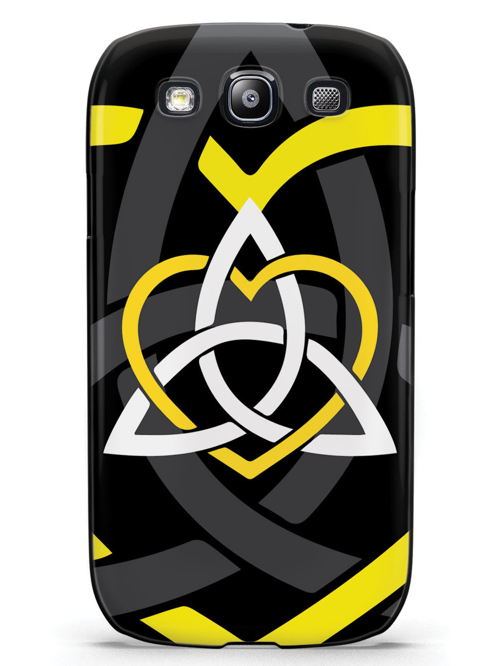 Celtic Sisters Knot - Yellow - Black Case