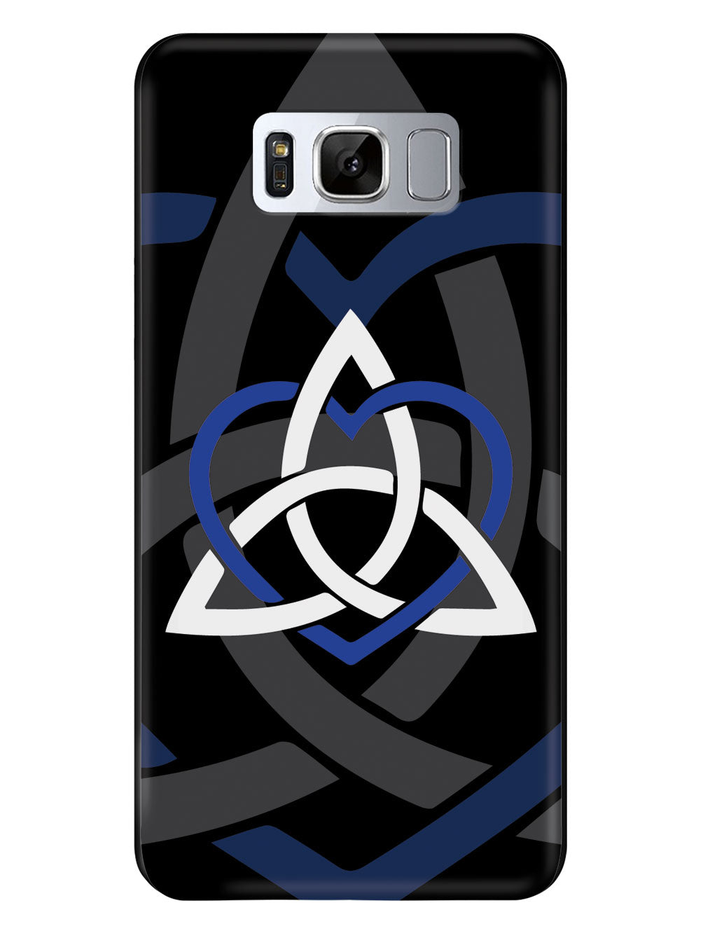 Celtic Sisters Knot - Blue - Black Case