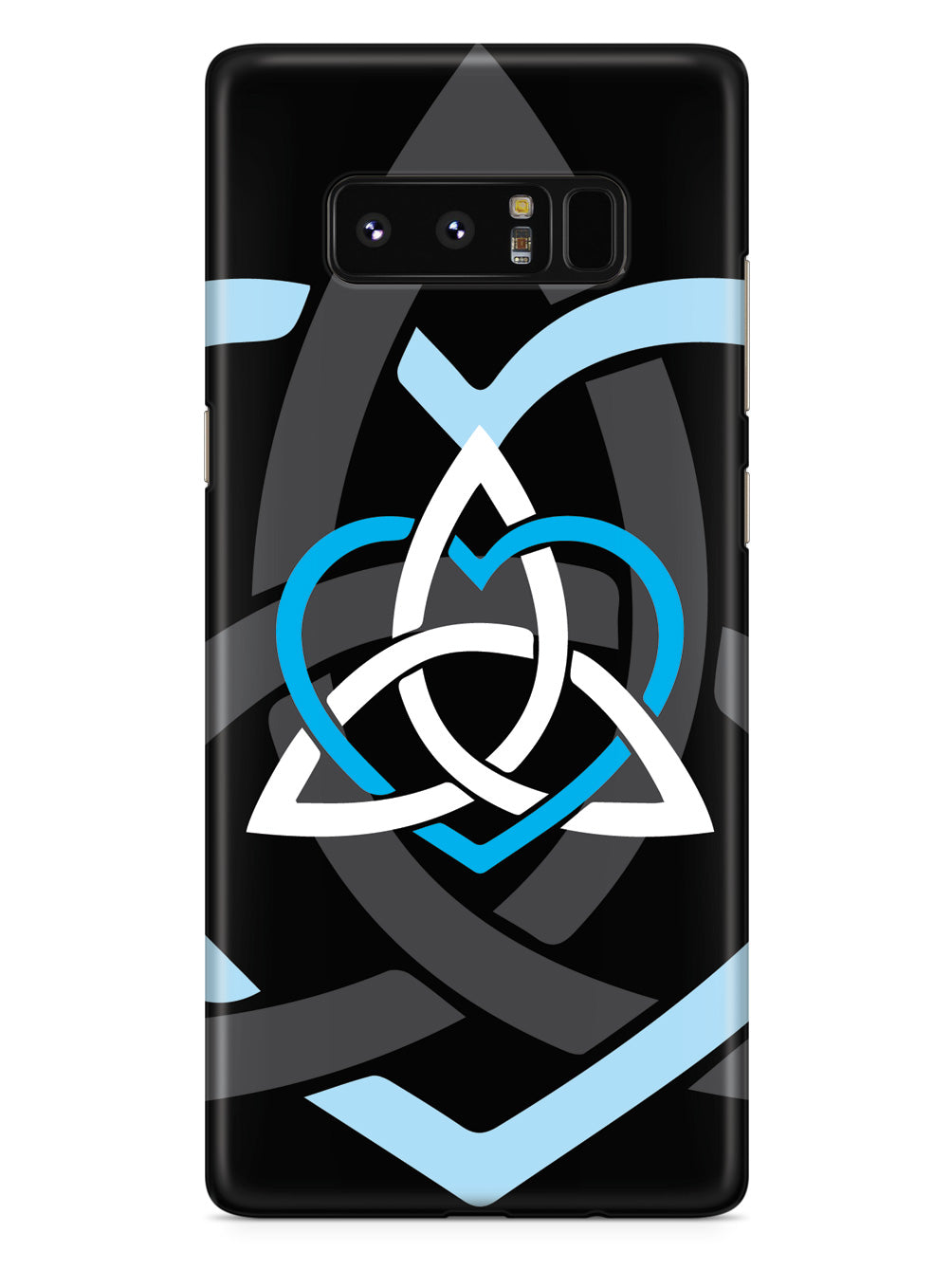Celtic Sisters Knot - Light Blue - Black Case