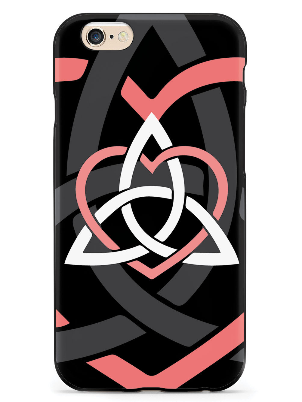 Celtic Sisters Knot - Coral - Black Case