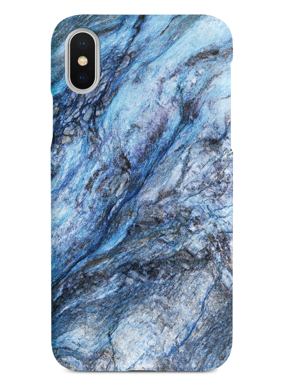Textured Rough Blue Marble Case