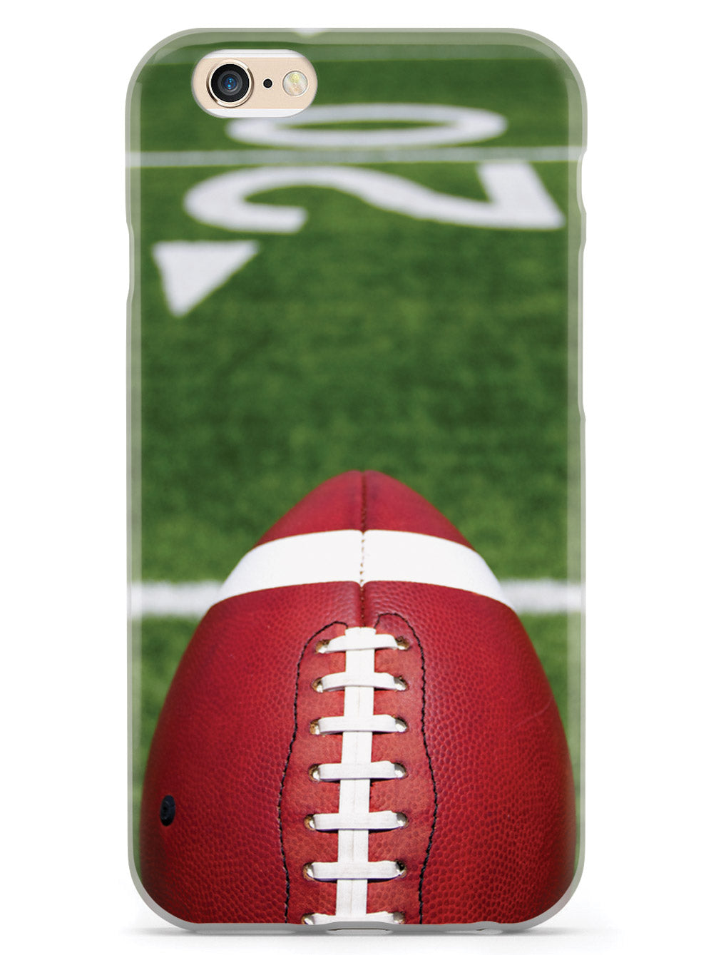 American Football with Yard Lines Beyond Case