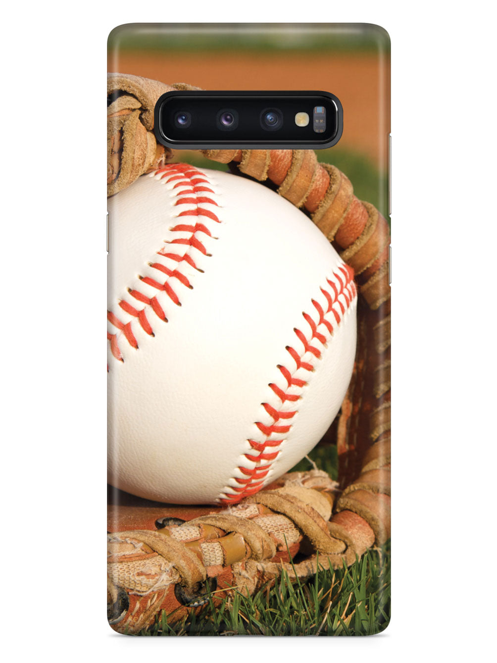 Baseball in Glove on the Field Case