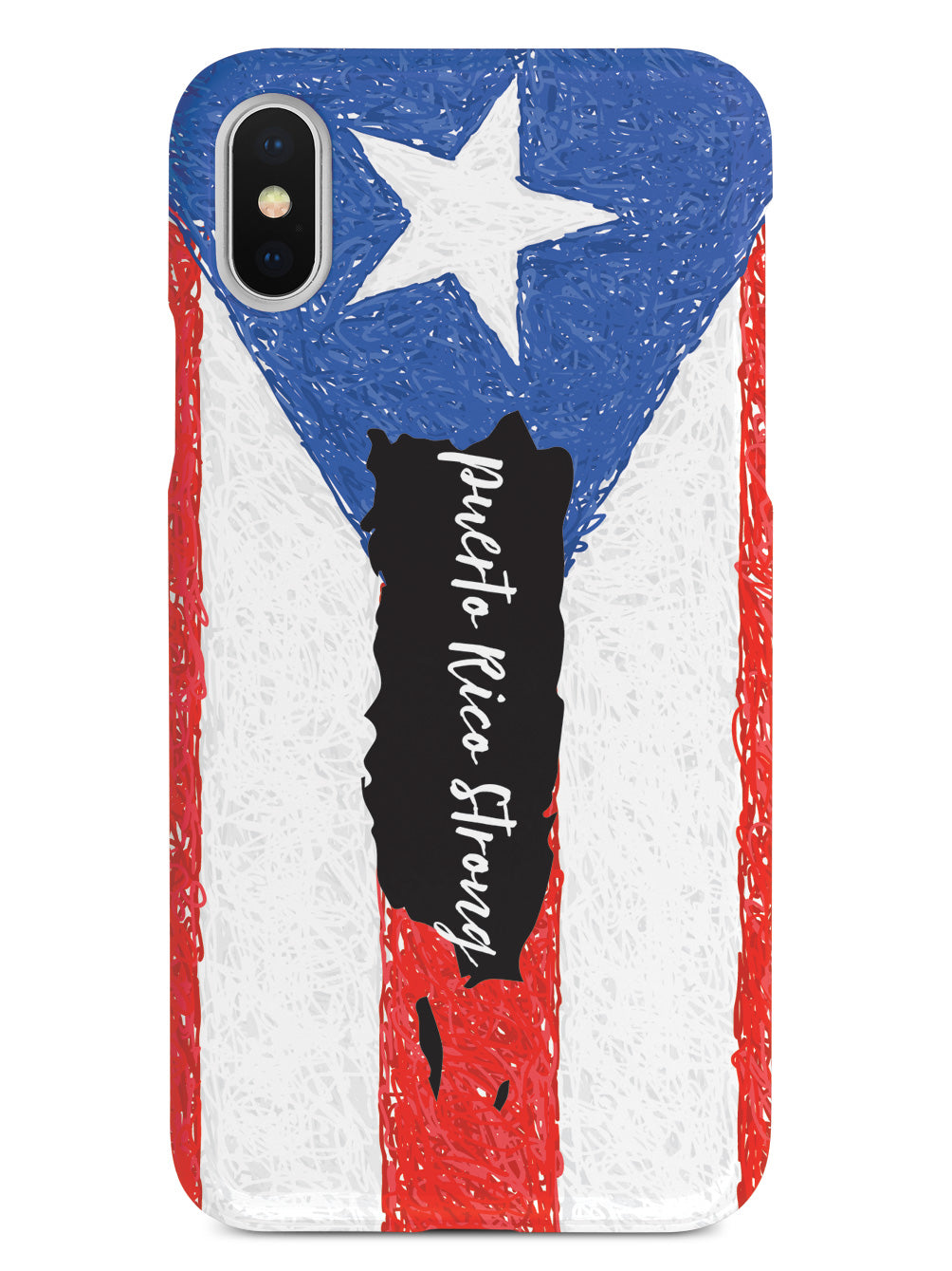 Puerto Rico Strong - Flag Outline Case