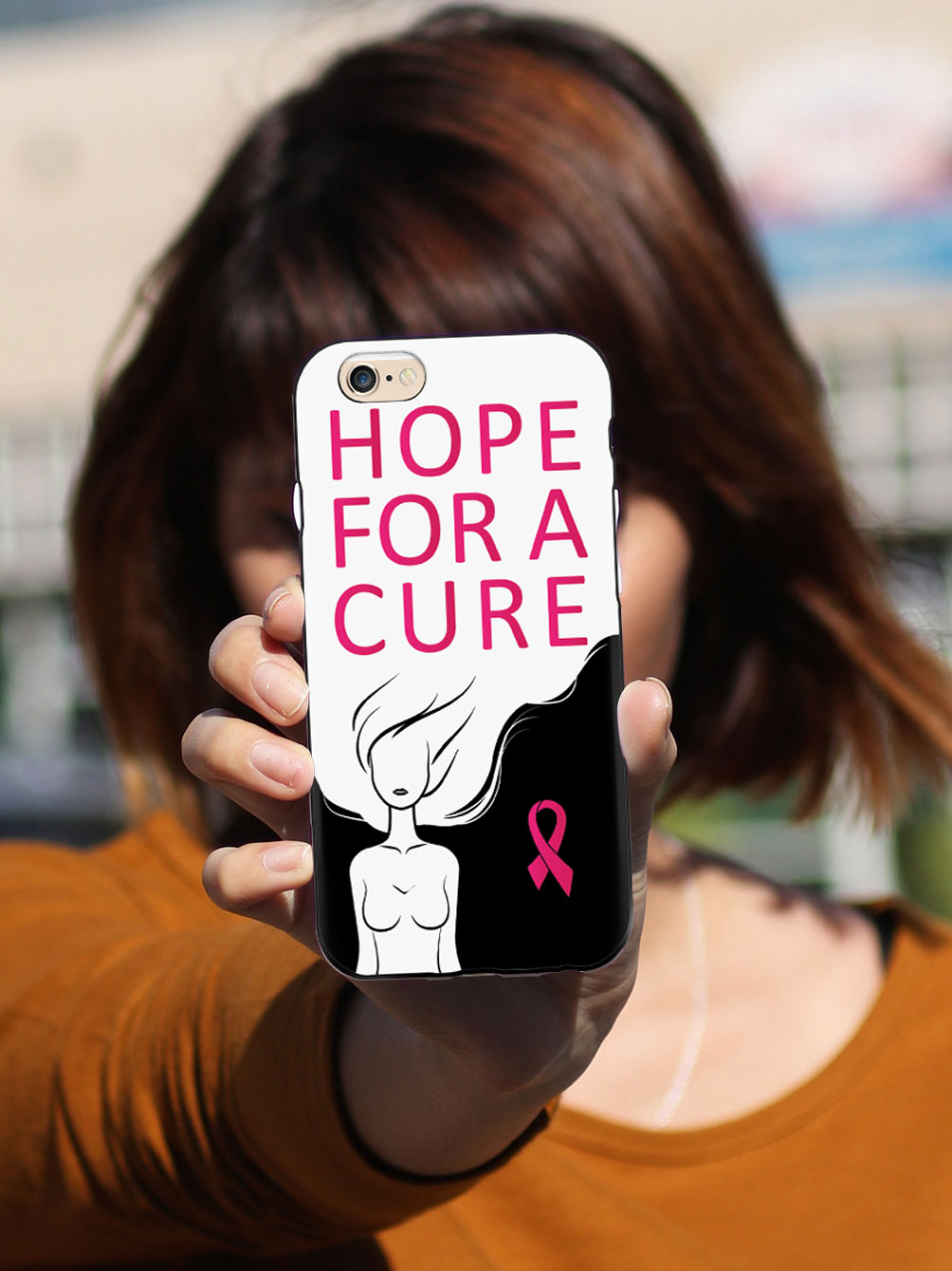 Hope For A Cure - Breast Cancer Awareness - Black Case