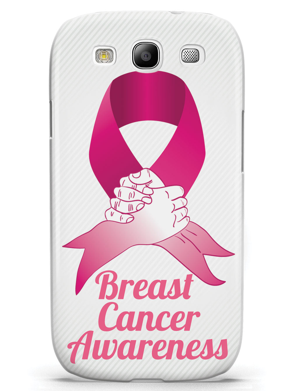 Pink Ribbon - Supporting Hand - Breast Cancer Awareness - White Case