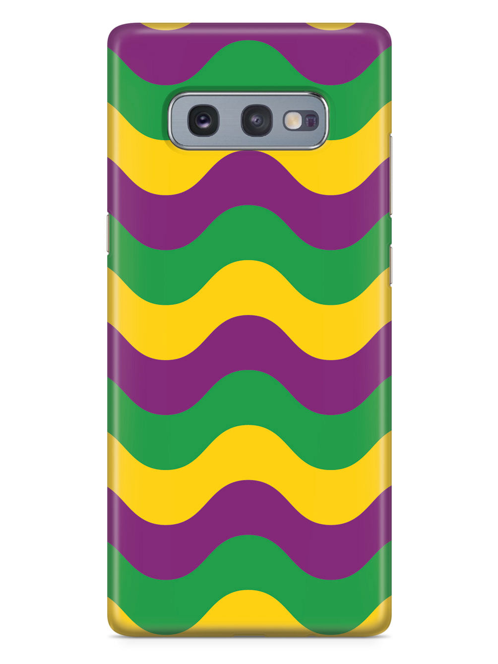 Mardi Gras Wave Pattern - White Case