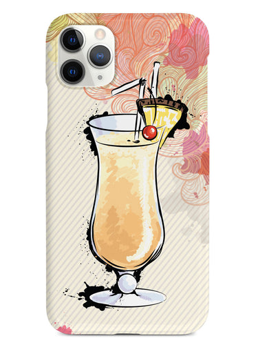 Watercolor Pina Colada - Black Case