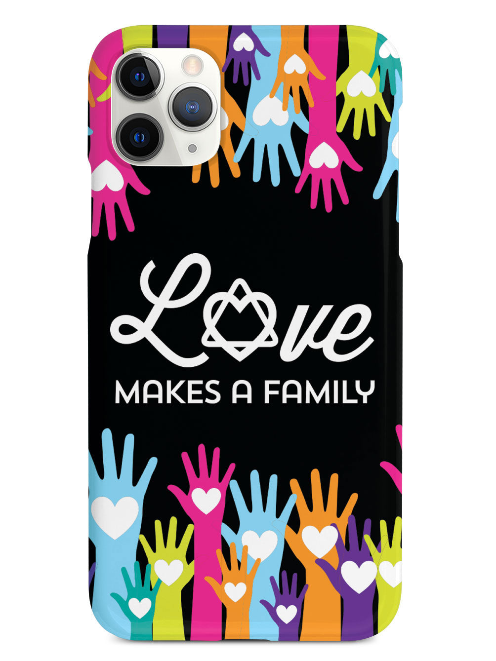 Love Makes A Family - Adoption - Black Case