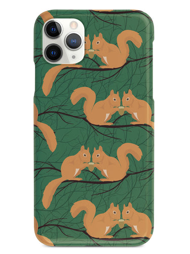 Squirrel Pattern - Black Case