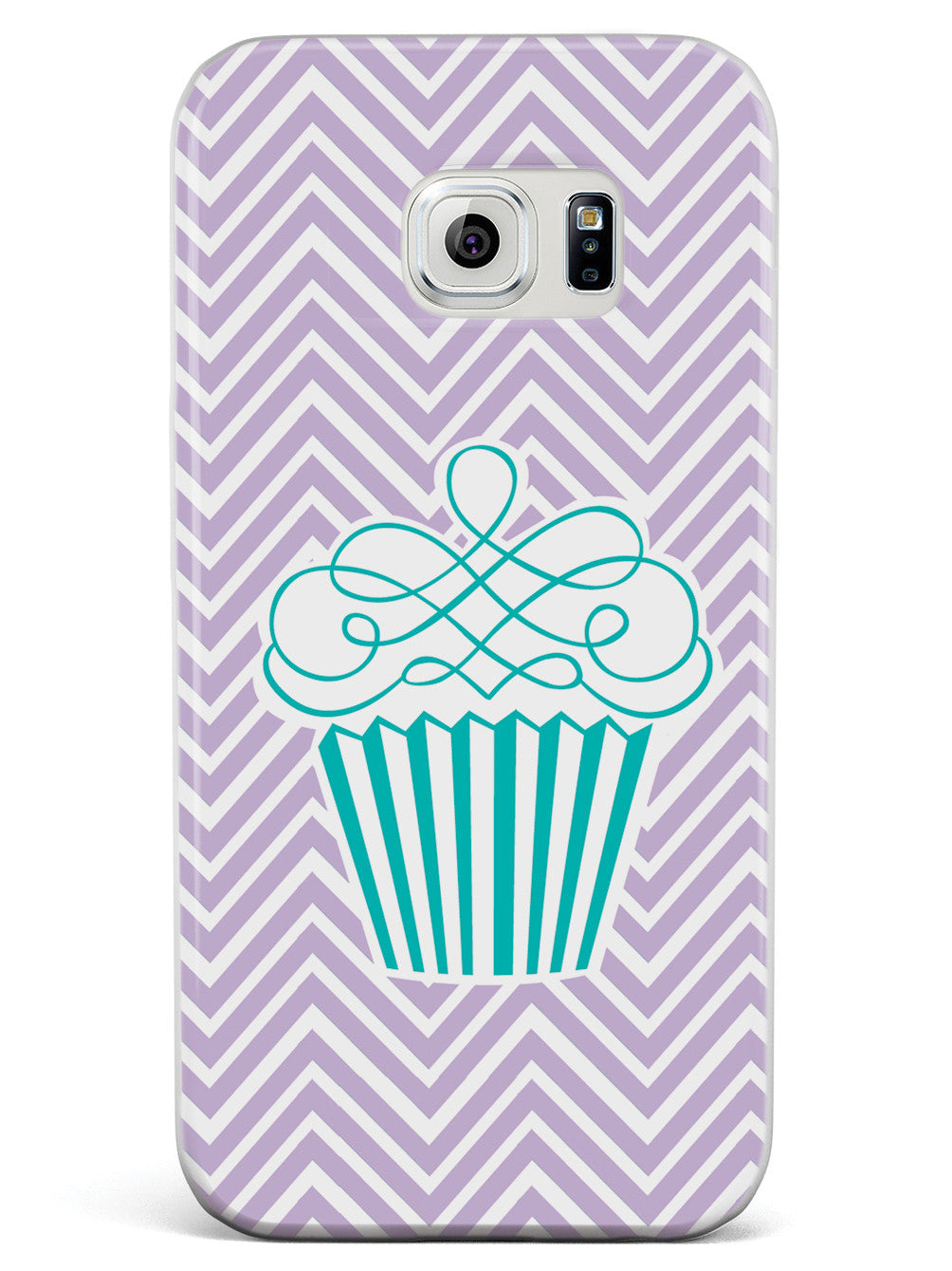 Cupcake Design with Chevron Pattern Case