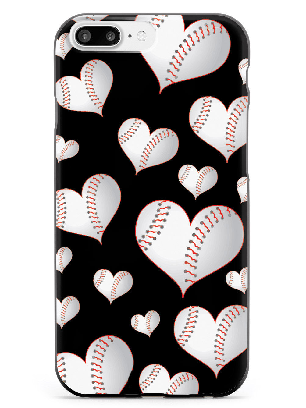 Baseball Heart Pattern Case