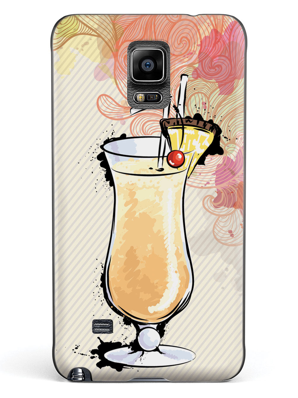 Watercolor Piña Colada - Black Case