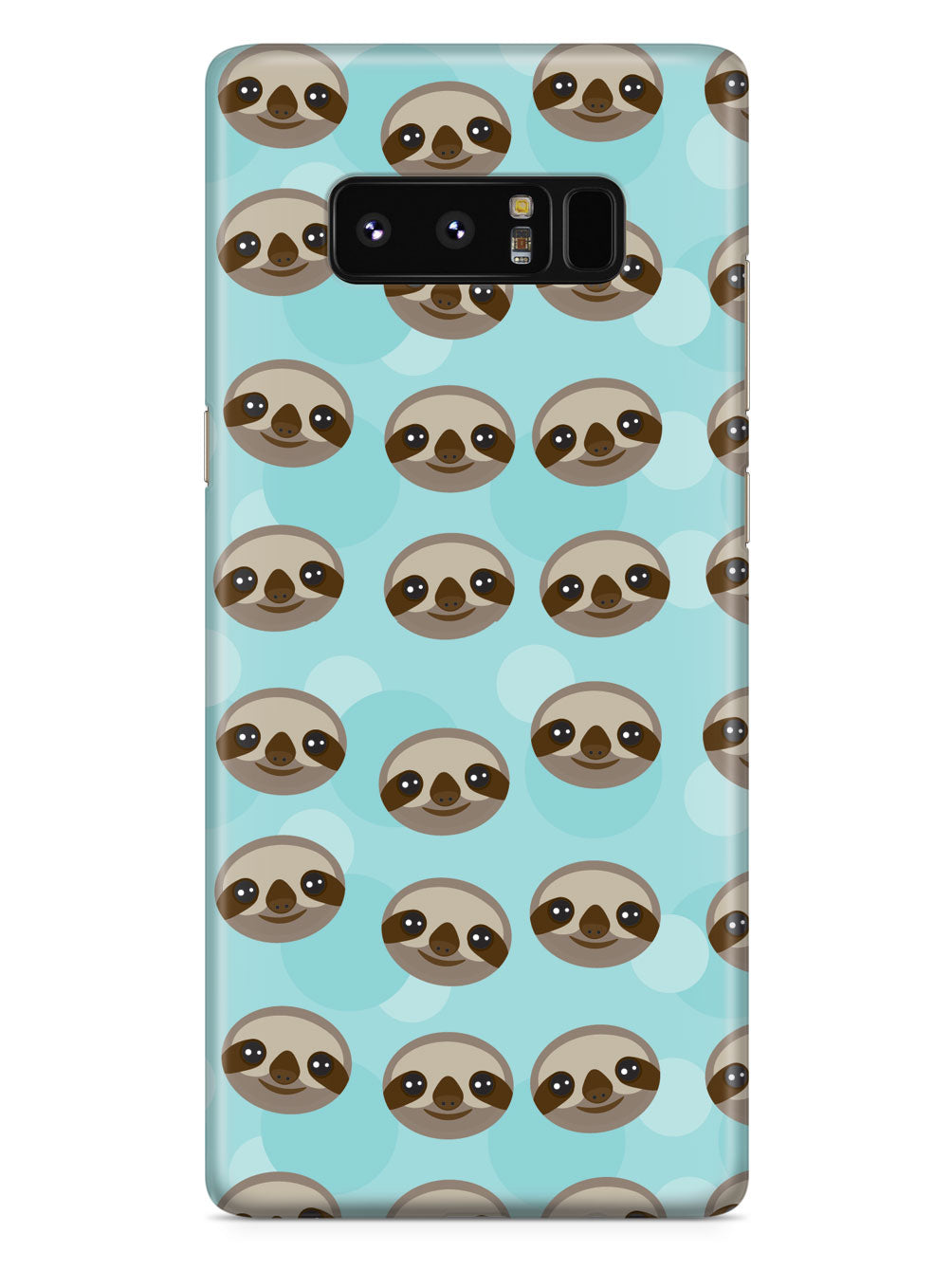 Sloth Pattern - Black Case