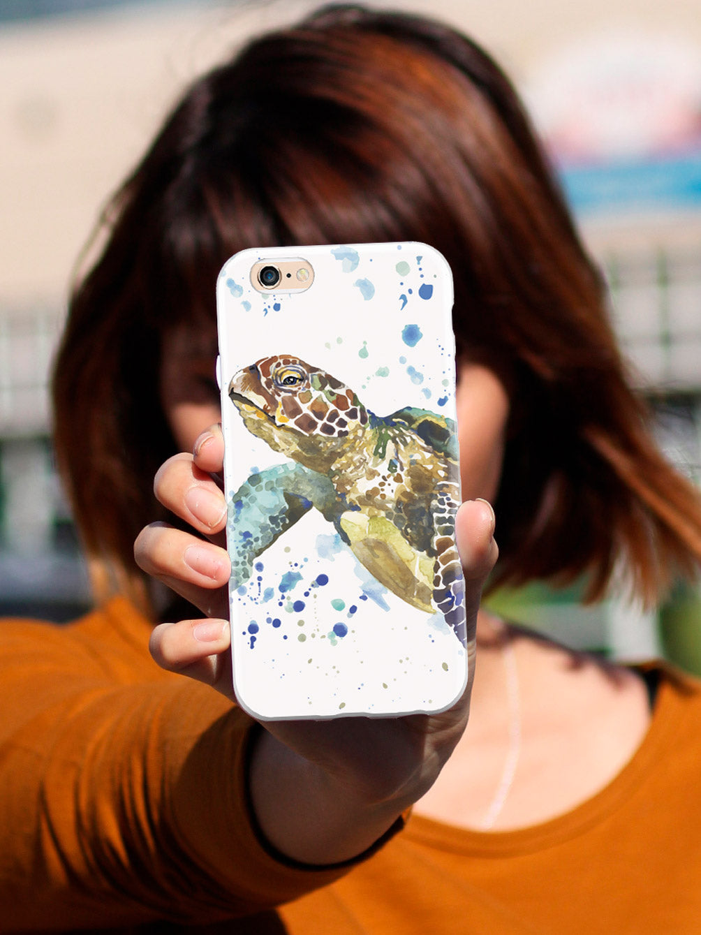 Watercolor Sea Turtle Case