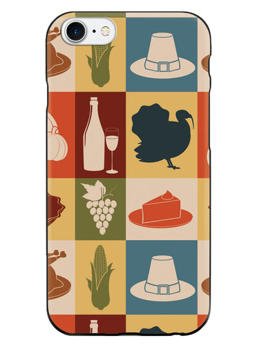 Thanksgiving Pattern - Black Case