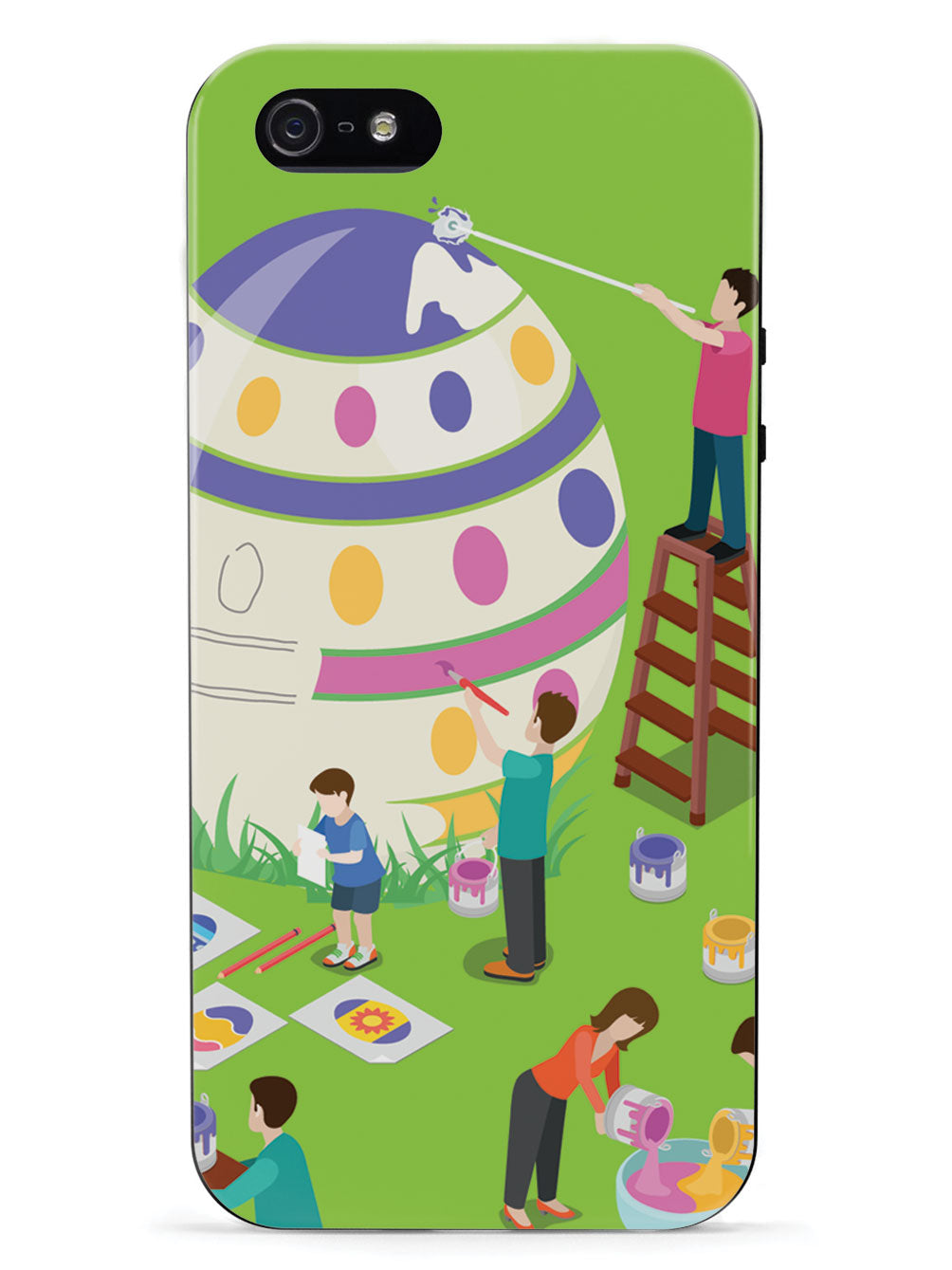 Egg Painting - Black Case