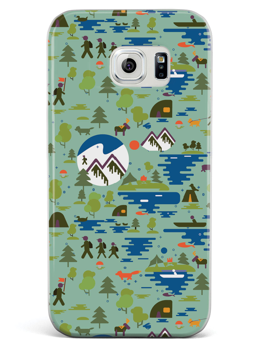 Camping Nature Pattern - White Case